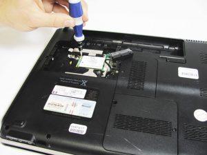 راهنمای تعویض کارت HP dv5-1125nr WLAN